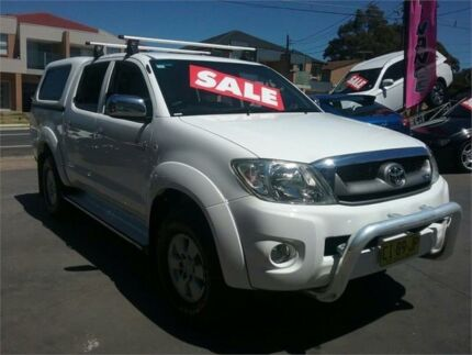 2010 Toyota Hilux GGN25R MY10 SR5 White 5 Speed Automatic Utility