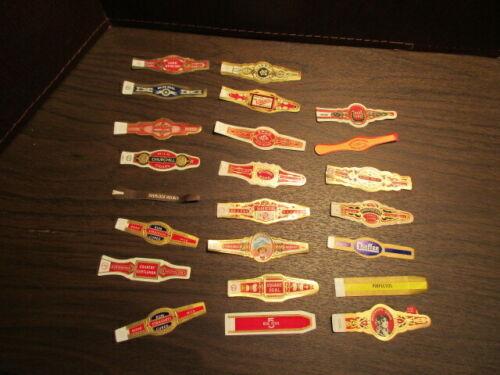 Vintage Cigar Bands - TOBACCIANA - Original - 23 Different Unused Bands
