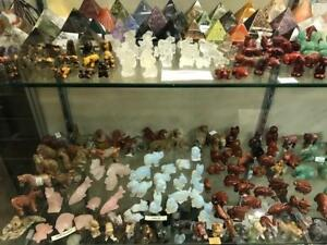 HUGE VARIETY OF GEM AND MINERAL ANIMALS - THE RUSSIAN STONE