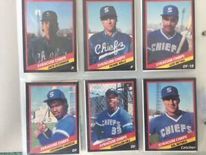 Mint 1988 CMC Syracuse Chiefs Team Baseball Card Set (24)