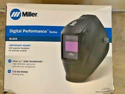 Miller Black Digital Performance Series Auto Darkening Welding Helmet 282000
