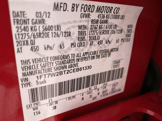 Image 13 Coche Americano usado Ford F-250 2012