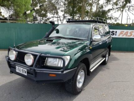 1998 Toyota Landcruiser HDJ80R GXL Green 4 Speed Automatic Wagon Gepps Cross Port Adelaide Area Preview