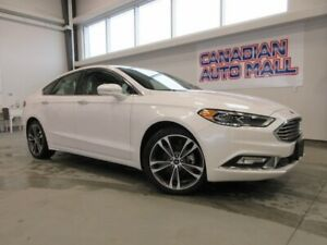 2018 Ford Fusion TITANIUM AWD, ROOF, HTD. LEATHER, LOADED, 22K!
