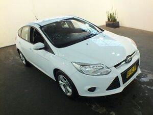 2013 Ford Focus LW MK2 Upgrade Trend Frozen White 6 Speed Automatic Hatchback Clemton Park Canterbury Area Preview