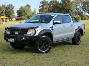 2013 Ford Ranger PX XLT 3.2 (4x4) Silver 6 Speed Manual Dual Cab Utility Hillman Rockingham Area Preview