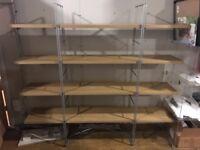Wood / metal shelving unit shelves