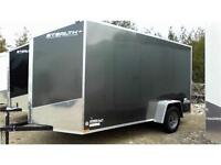 CLEARANCE! Enclosed Cargo Trailer - 6x12 plus V-Nose & Upgrades