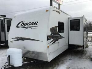 2009 Cougar 300SRX side load toy hauler