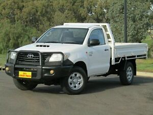 2011 Toyota Hilux KUN26R MY12 Workmate White 4 Speed Automatic Cab Chassis Strathalbyn Alexandrina Area Preview
