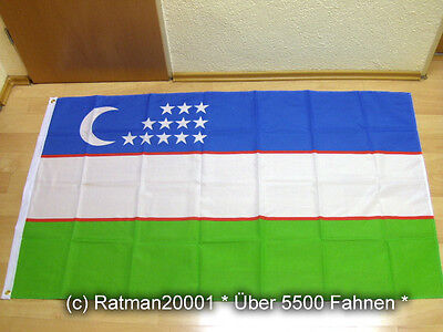 Fahnen Flagge Uzbekistan Usbekistan - 90 x 150 cm