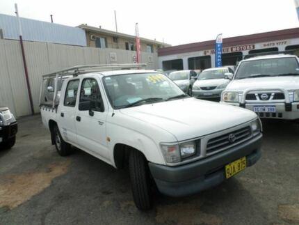 1999 Toyota Hilux LN147R White 5 Speed Manual Utility