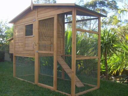 Chicken Coop Rabbit Cat Enclosure Hutch Cage LARGE SOMERZBY MANOR