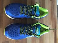 Mens Asics GT-2000 3 Running Shoes Blue/Yellow UK 8.5 - Harldy Worn - VVGC