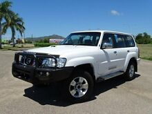 2013 Nissan Patrol GU Series 9 ST (4x4) Polar White 5 Speed Manual Wagon Vincent Townsville City Preview