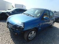 2001 Renault Clio 1.2 Breaking Blue Engine Doors Bumper Headlight Windscreen Gearbox