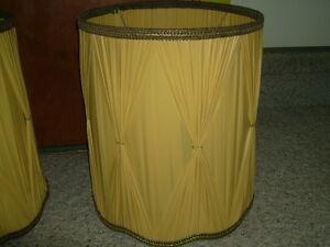 LAMP SHADES GOLD  PLEATED
