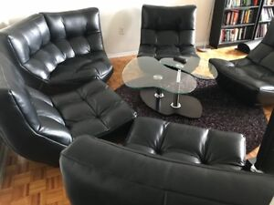 Moving Sale - Leather Sofas / Sectional, Modern Coffee Table