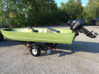 16 ft aluminum boat + 9.9 Mercury motor + trailer