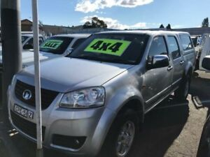 2013 Great Wall V240 K2 MY11 (4x4) Silver 5 Speed Manual Dual Cab Utility Lansvale Liverpool Area Preview
