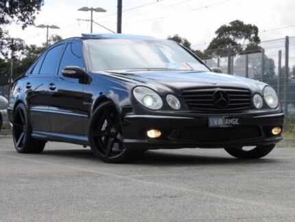 2005 Mercedes-Benz E55 211 AMG Black Ember 5 Speed Auto Touchshift Sedan Seaford Frankston Area Preview
