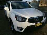 2013 Ssangyong Actyon Sports Q100 MY12 TRADIE ACTYON 4+4 White Automatic Dual Cab Utility Rossmore Liverpool Area Preview