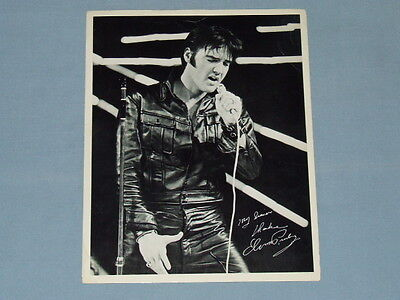 "1970 Elvis ""Now"" International Hotel Las Vegas Promo Souvenir Photo"