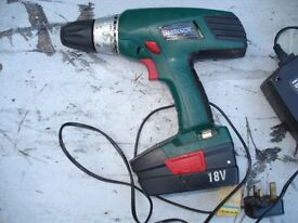 OFFERS?PARKSIDE 18 VOLT CORDLESS DRILL X18V KH3188 AND CHARGER WORKS SPARES REPAIRS CHESHIRE