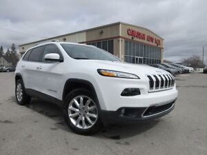2016 Jeep Cherokee LIMITED 4X4, NAV, LEATHER, V6, 20K!