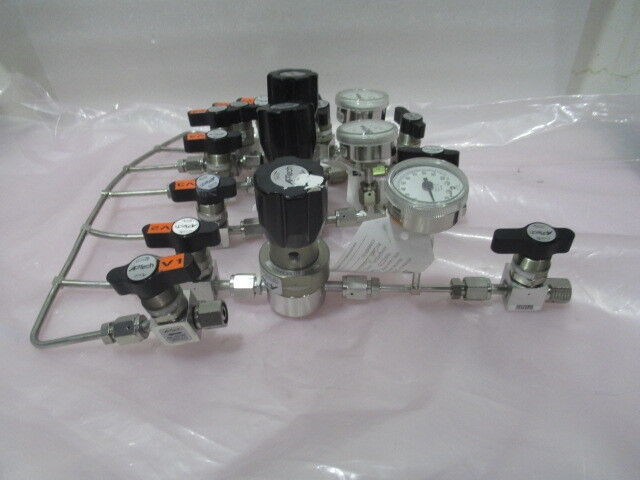 Gas Line Assembly APTech AP1010S 2PW MV4 FV4, USG Millipore Gauge, 422659