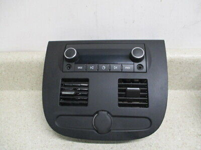 07 to 14 Chevrolet Avalanche Console Rear Radio Audio Control, Air Vents, Bezel