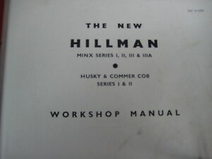 Livre d'atelier (shop manual) Hillman