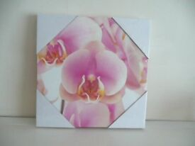 Set of 3 New Block Canvass Flower Prints