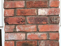 RECLAIMED CHESHIRE RED VICTORIAN BRICK ABOUT 200 BRICKS £95 IN CHESTER