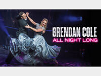 Two tickets Brendan Cole All Night Long Theatre Royal Norwich Sunday 28th January 7.30pm