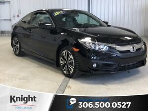 2017 Honda Civic Coupe EX-T, Black, Turbo, Manual, Sunroof, Spor