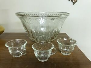 Punch bowl and cups