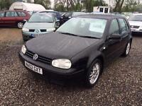 2002 VOLKSWAGEN GOLF 1.9 E SDI DIESEL 12 MONTHS MOT UPGRADED ALLOYS GREAT COLOUR