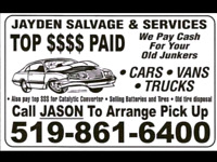 Top Dollar Paid for your Retired Ride,Old Junkers,Farm Tucks $