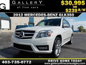 2012 Mercedes GLK350 4Matic $239 BI-WEEKLY APPLY NOW DRIVE NOW