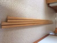 Curtain Poles, Curtain Rings, Brackets, Finials in Pine effect Wood