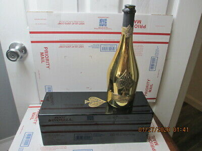 s19) 1 Armand De Brignac Ace of Spades Brut Champagne Empty Box/Bottle GOLD 750m