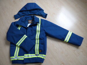 Winter work jacket hi visibility Tough duck FR