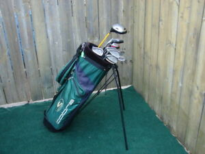 Men's LH King Cobra golf set & Men's RH Adams golf club sets