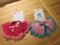 Tutu skirts with matching tops (2.5 - 5 years old) for sale