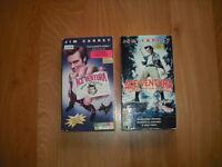 ...2 BONNE COMÉDIE DE ACE VENTURA EN VHS..