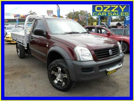 2006 Holden Rodeo RA MY06 Upgrade LX Burgundy 5 Speed Manual Cab Chassis