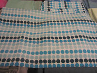 king size quilt circle pattern cover - fully reversible, with 2 matching pillow cases