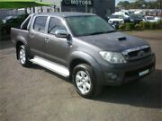 2011 Toyota Hilux KUN26R MY11 Upgrade SR5 (4x4) Grey 4 Speed Automatic Dual Cab Pick-up Heatherbrae Port Stephens Area Preview