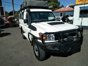 2019 Toyota Landcruiser VDJ78R Workmate Troopcarrier White 5 Speed Manual Wagon Sutherland Sutherland Area Preview